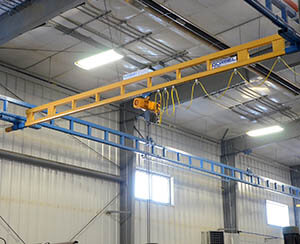 workstation overhead crane bridge 2 ton - inspections and service, design and install