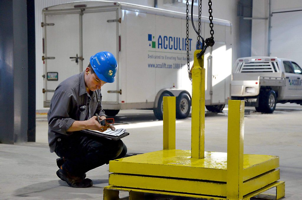 Certified crane inspections load testing