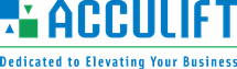Acculift_Logo with tagline Dedicated to Elevating your Business