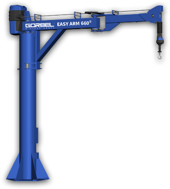 articulating intelligent jib crane lifting