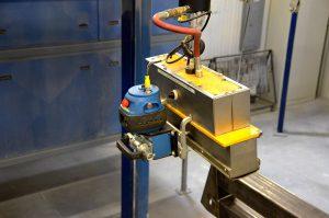 magnet lifting powder coating line winkler manitoba