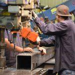 Drill press columns for overhead cranes