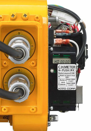 duty cycle hoist meter on a kito electric hoist