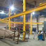 freestanding-monorail-two-column crane winch