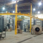 freestanding-monorail-two-column lifting controls install dealers crane company