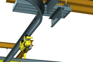 ct-monorail patented track lifting overhead crane systems curved