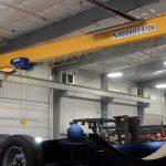 IronMen custom grain bin trailer fabrication southern manitoba crane lift