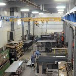 facility spanning crane overhead system - brake system lifting components and parts for welders