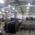 IronMen facility spanning interior crane bridges spans