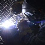 IronMen tig welder in action on aluminum
