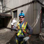 gopro enabled crew member fall arrest jib crane inspection