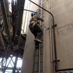 research tower climb sadkpower poplar river saskatchwan