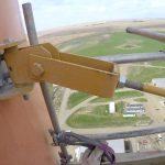 crane wall bracket jib research tower climb saskpower poplar river saskatchwan