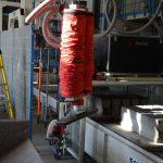 vacuum lifter moving heave concrete blocks quality control line