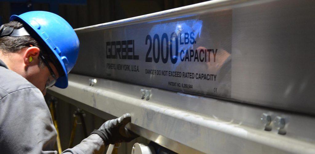 gorbel bridge beam 2000 lbs rated capacity install