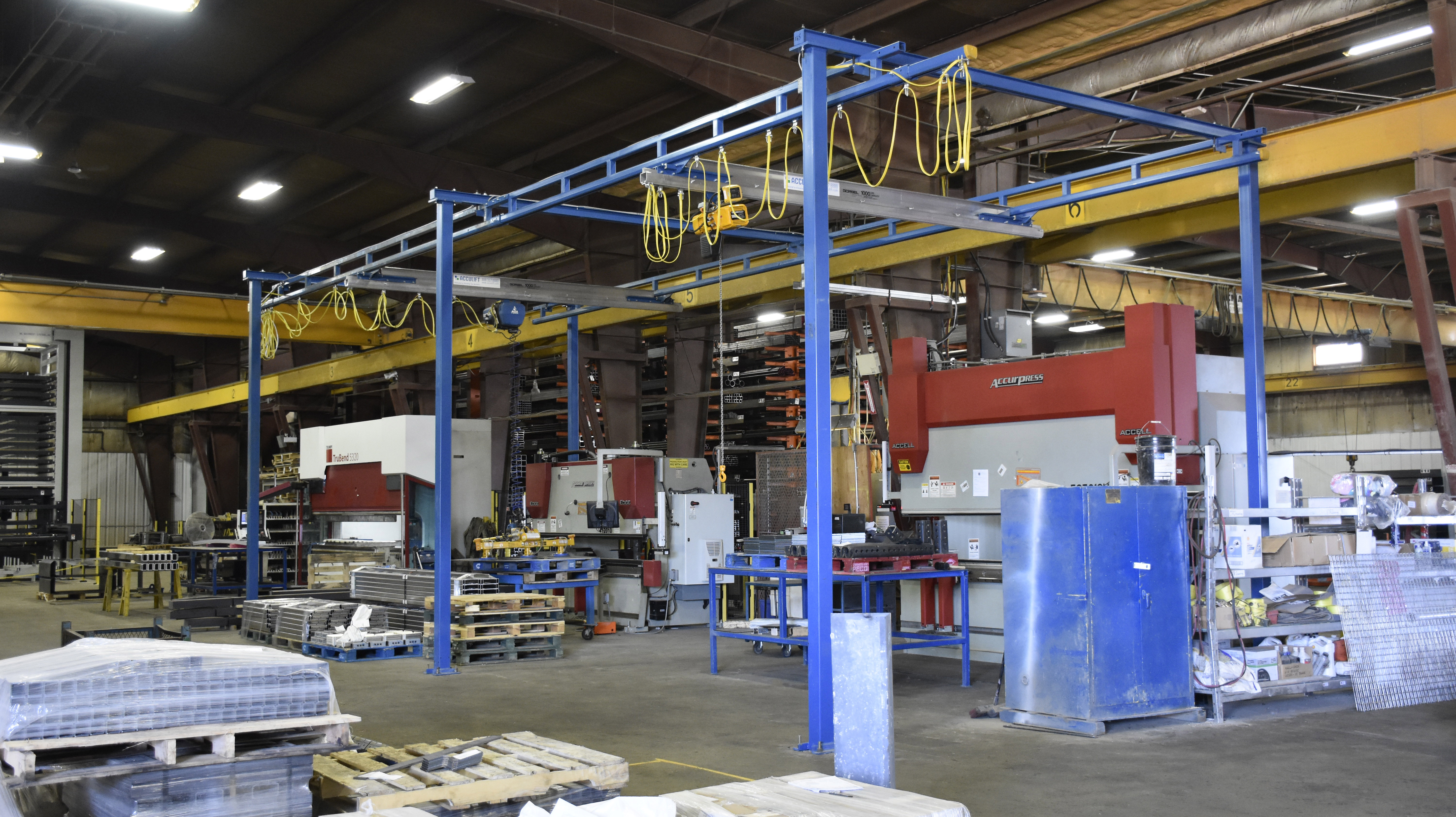 6 column - relocating and expanding acculift existing crane systems for steel processor