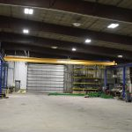 large span acculift overhead work bay north dakota lifting cranes