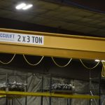 acculift header beam crane for ag manufacturer north dakota lifting cranes