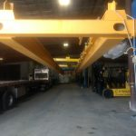 acculift factory double beam header assembly lifting crane