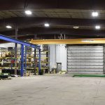 large bay crane for product assembly north dakota lifting acculift cranes