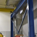 acculift Maximizing floor crane coverage by careful column placement