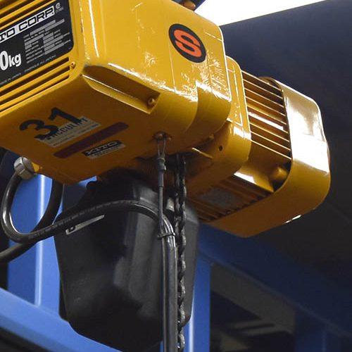 acculift Kito Hoist ER2 chain hoist underhung crane bridge runway
