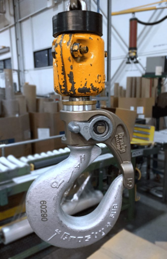 brosby hook on a kito hoist acculift solutions