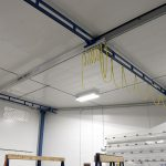 Acculift flush ceiling workstation crane solution