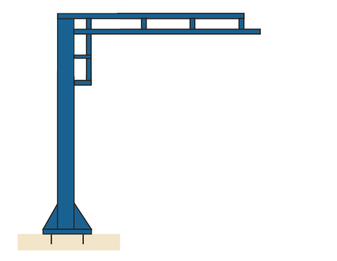 Pillar crane freestanding jib tool track winnipeg acculift diagram column