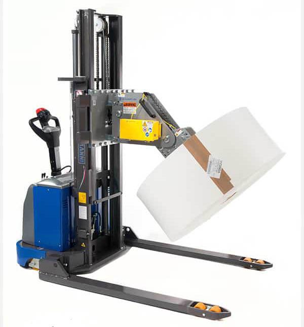 material handling roll lifter rotator forklift