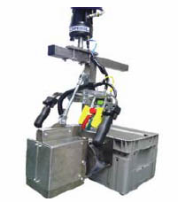 how to properly lift bins with end effector