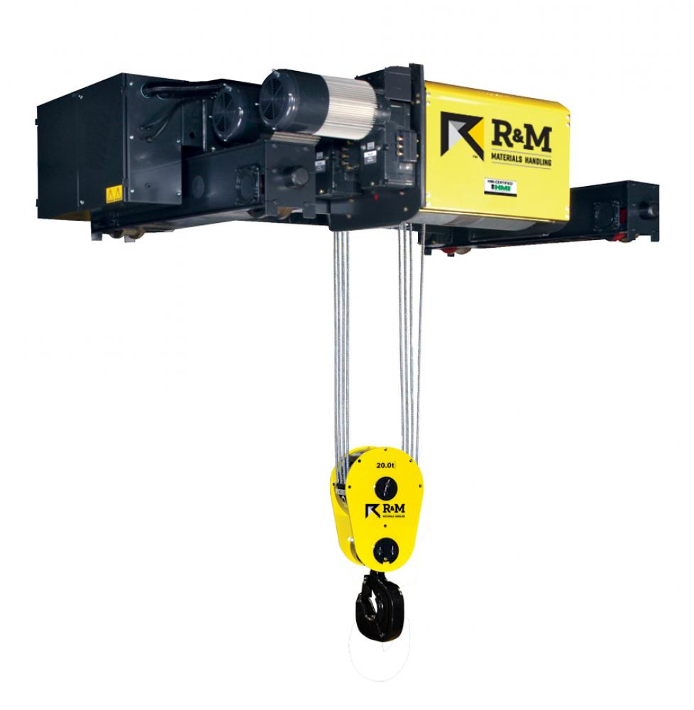 R & M wire rope hoist high capacity